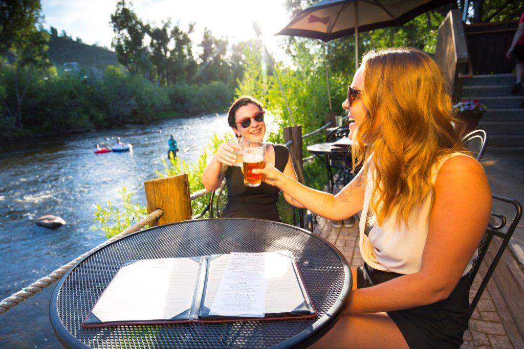 Enjoy a beer in steamboat springs
