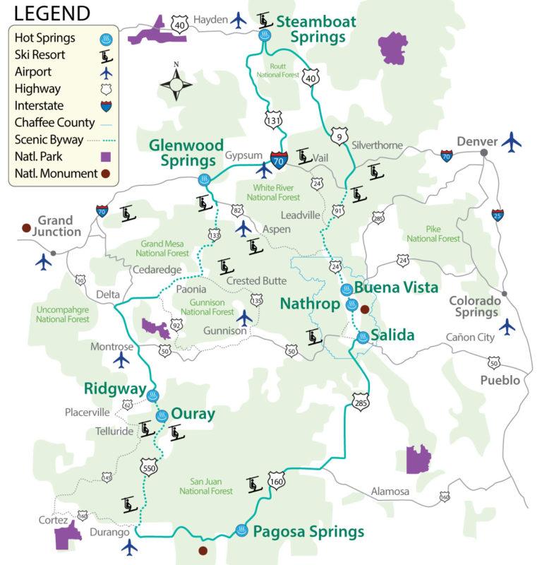 Historic Hot Springs Loop Map
