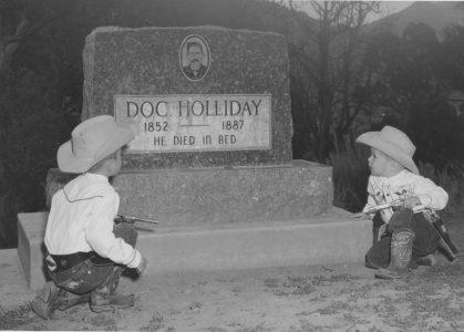Doc Holliday's grave marker in Glenwood Springs